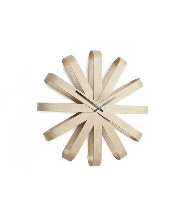 Umbra Ribbonwood Clock