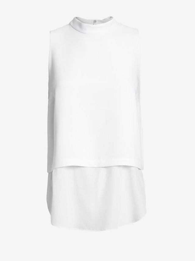 Elizabeth and James Tashi Mock Neck Sleeveless Blouse