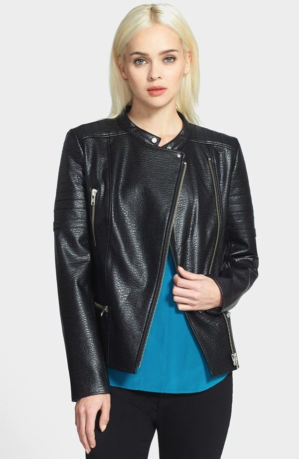 Trouvé Textured Vegan Biker Jacket