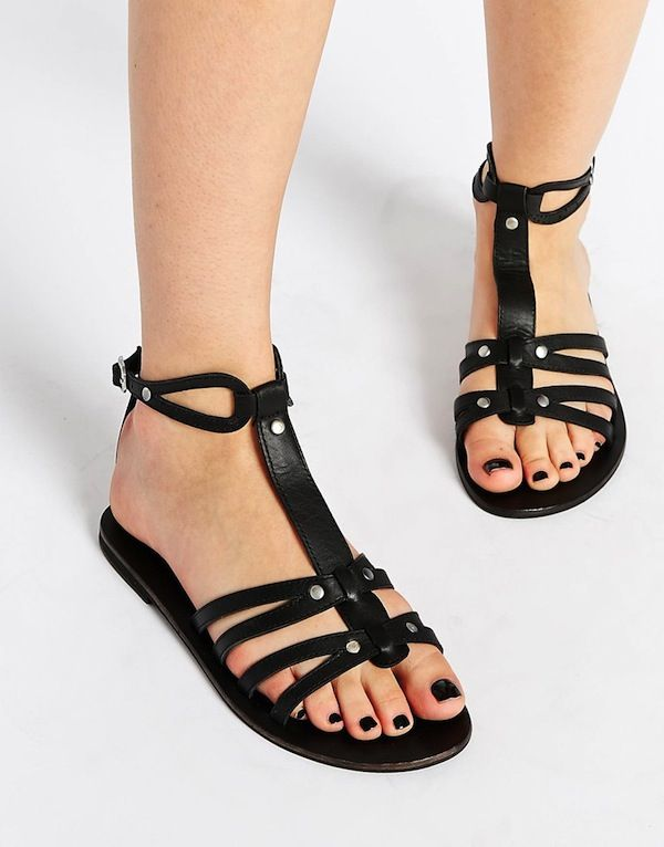 ASOS FENTON Gladiator Leather Sandals