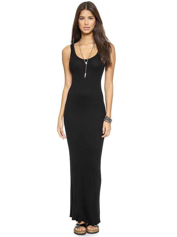 Enza Costa Ribbed Tank Maxi Dress