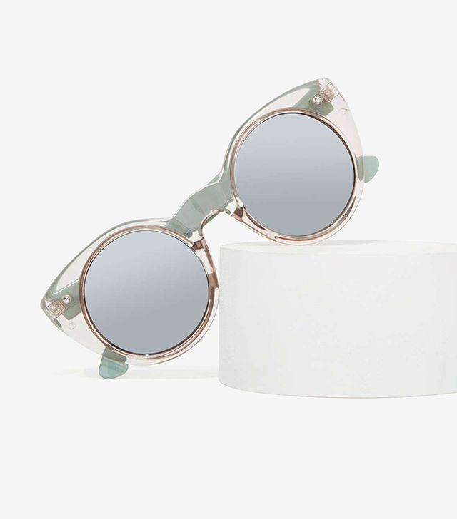 Nasty Gal Cool Cat Clear Shades