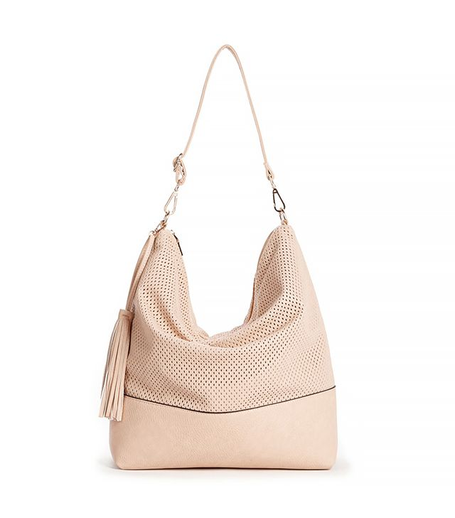 Sole Society Emmie Perforated Hobo With Tassel