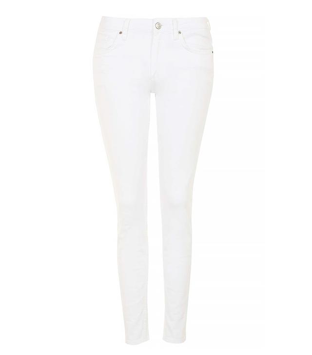 Topshop Moto White Baxter Jeans