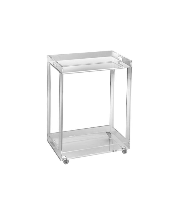 Pure Decor Acrylic Bar Cart