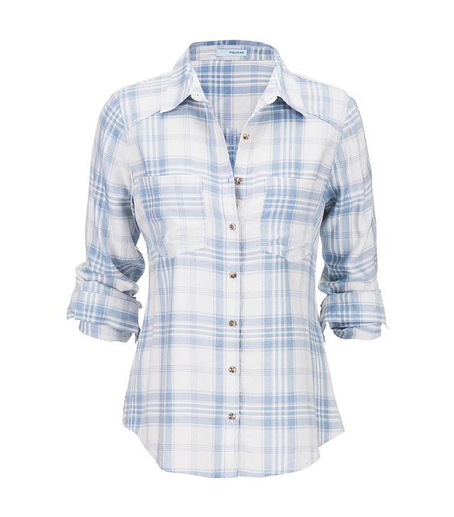 Maurices Boyfriend Shirt in Soft Plaid