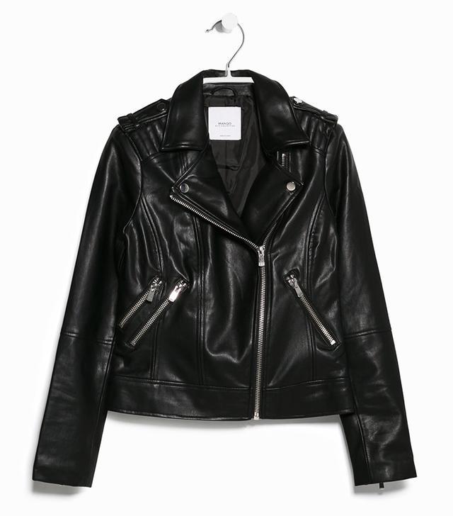 mango.com Zipped Biker Jacket