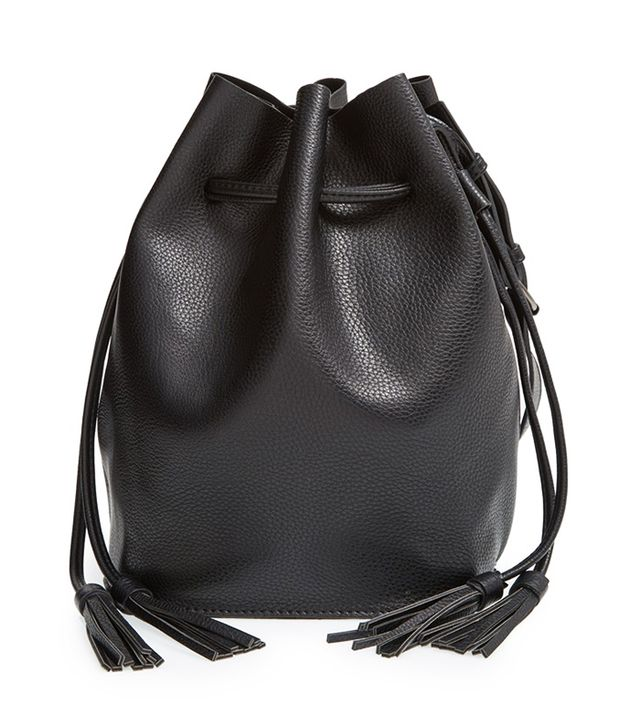 Street Level Vegan Leather Bucket Bag