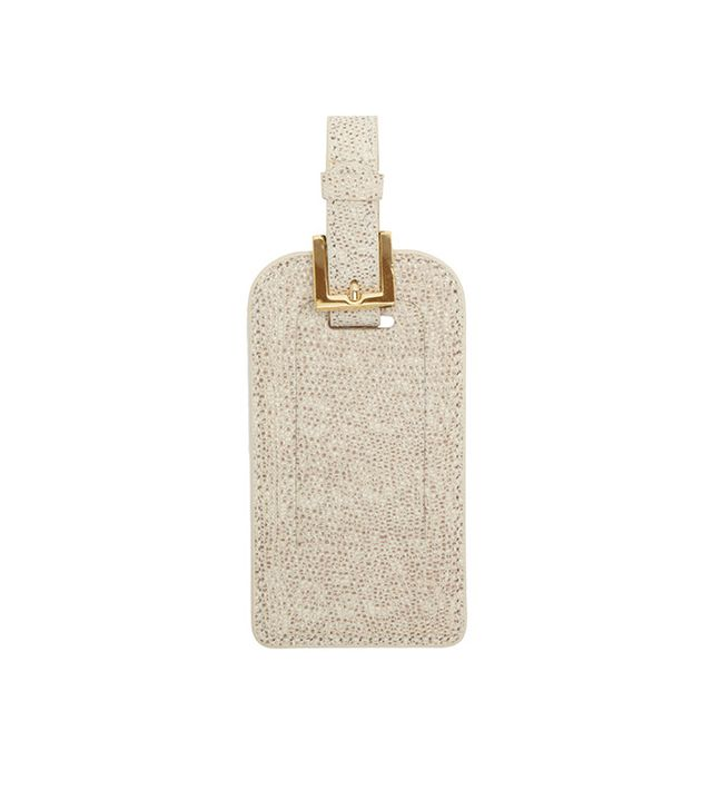 Barneys New York Lizard-Stamped Luggage Tag