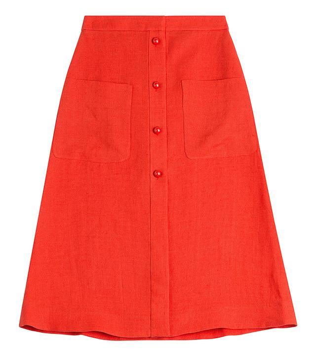 Isa Arfen Linen Skirt