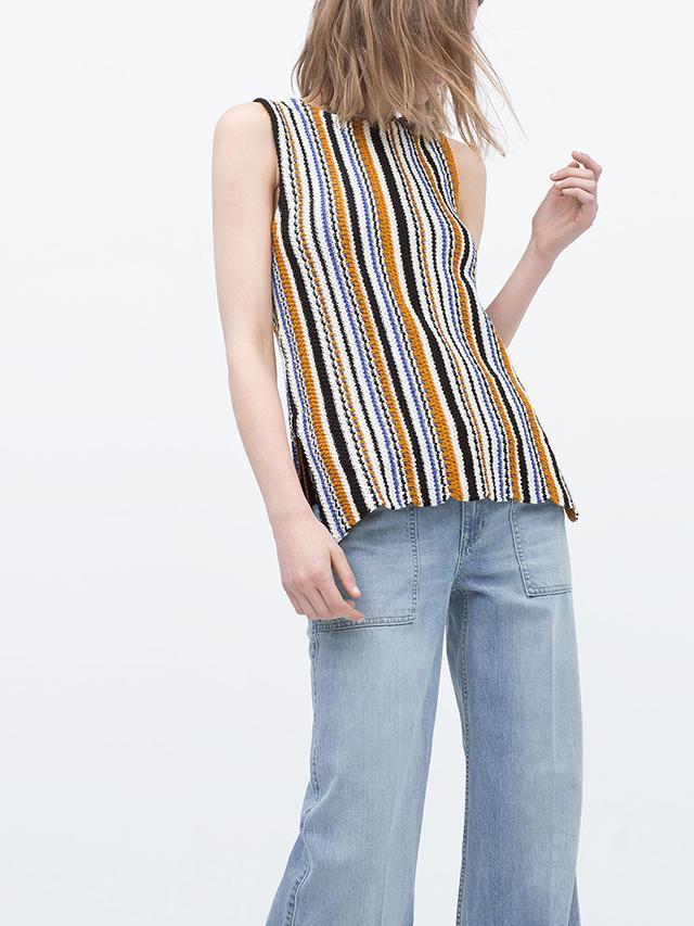 Zara Jacquard Pattern Top