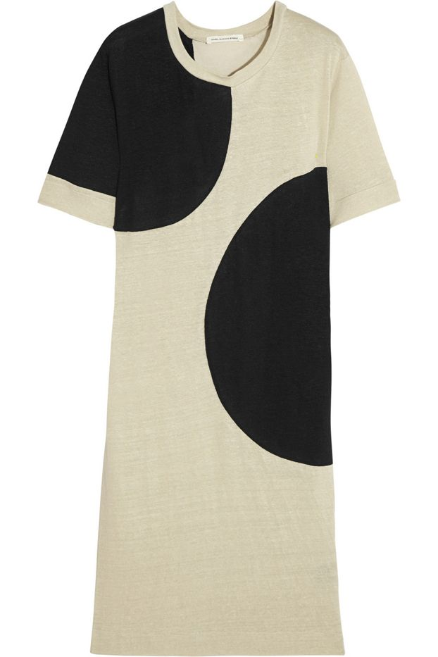 Étoile Isable Marant Earvin Two-Tone Linen and Modal-Blend Dress