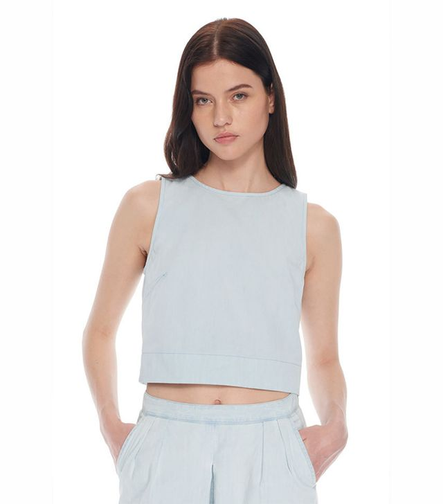 3x1 Zip Back Crop Top