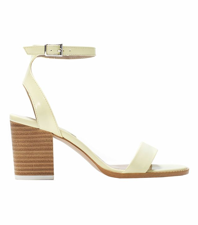 Zara Wooden Medium Heeled Sandals