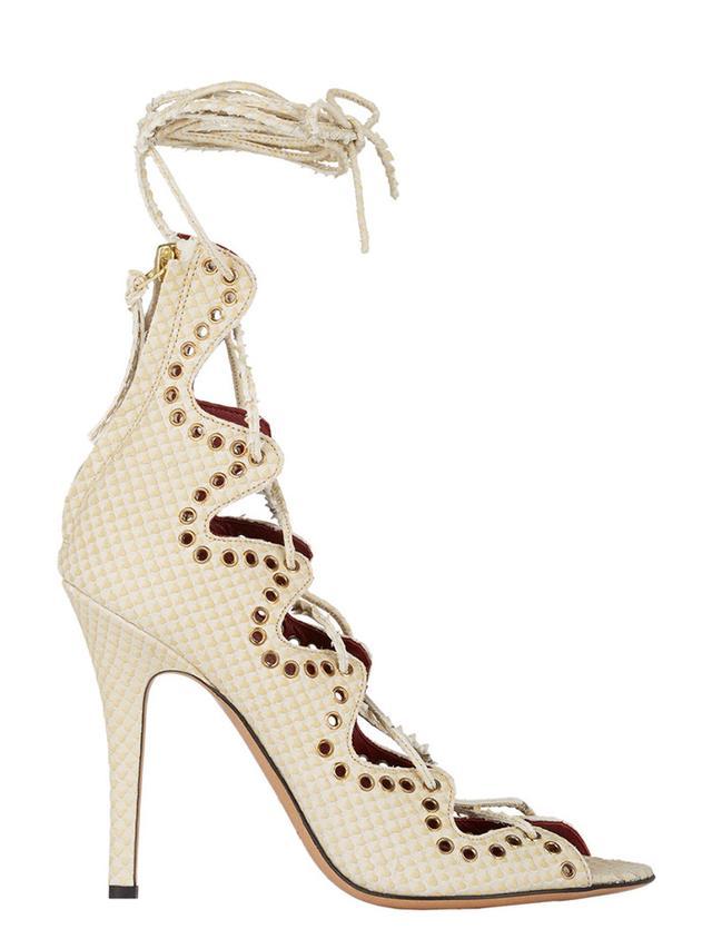 Isabel Marant Lelie Ankle-Wrap Sandals
