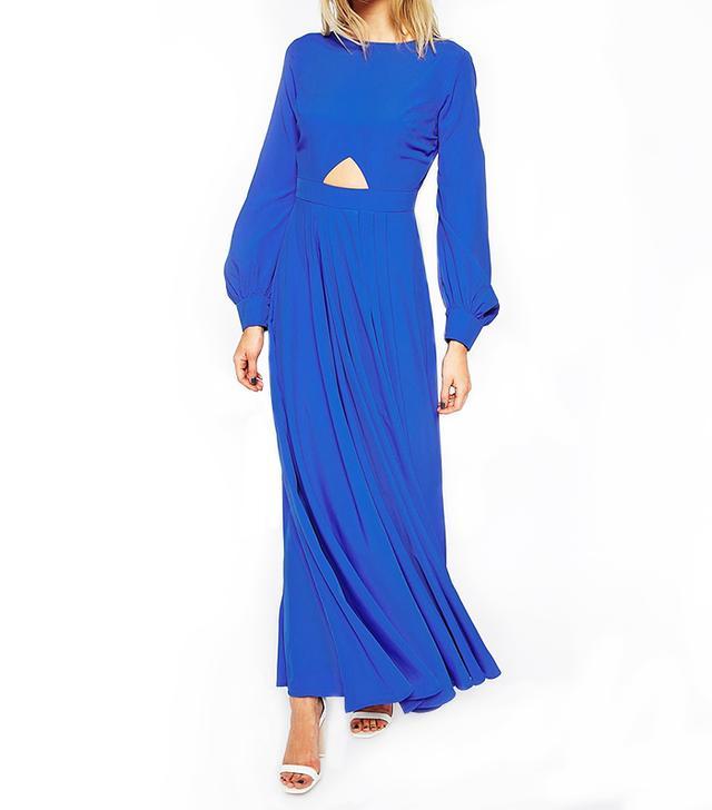 ASOS Caftan With Keyhole Maxi Dress