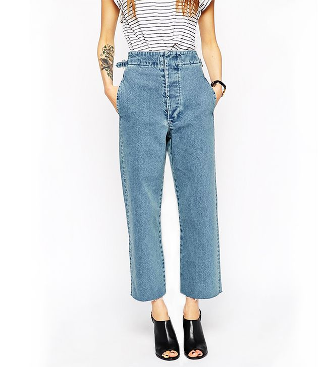 ASOS Denim High Waisted Wide Leg Jeans