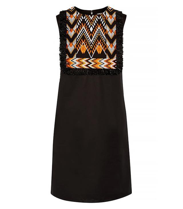 DKNY Embroidered Stretch-Cotton Poplin Mini Dress
