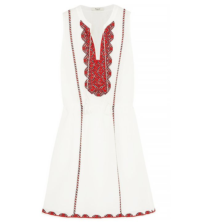 Madewell Embroidered Cotton Mini Dress