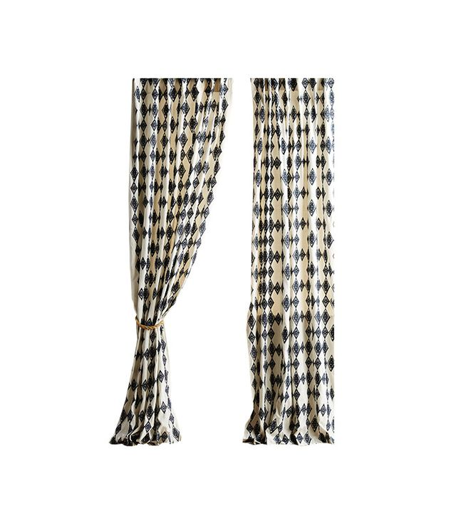 Anthropologie Tumbling Diamonds Curtain