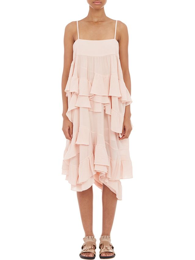 Chloé Ruffle Tiered Dress