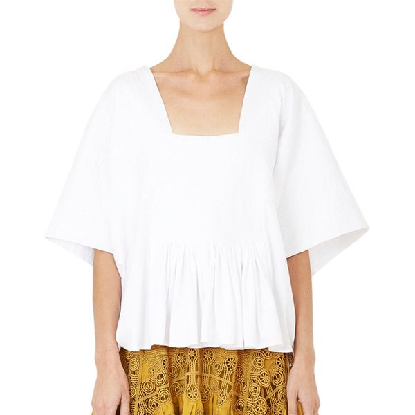 Chloé Square-Neck Crop T-Shirt