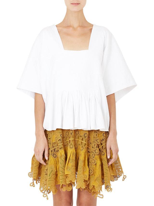 Chloé Square-Neck Crop T-Shirt