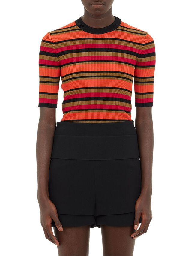 Givenchy Stripe Rib-Knit Top