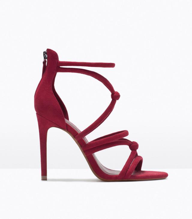 Zara Knotted High-Heel Sandals
