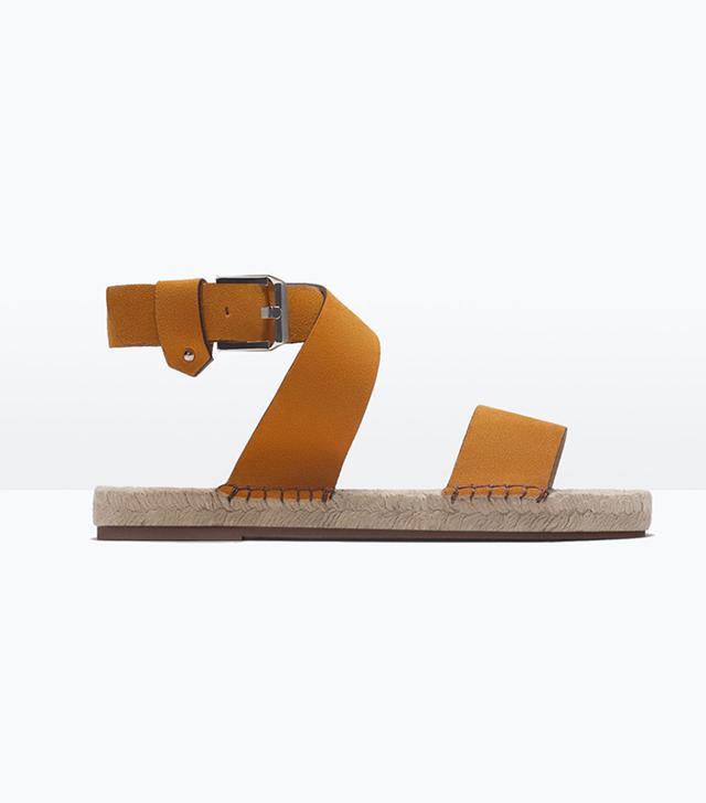 Zara Leather Espadrille Sandals
