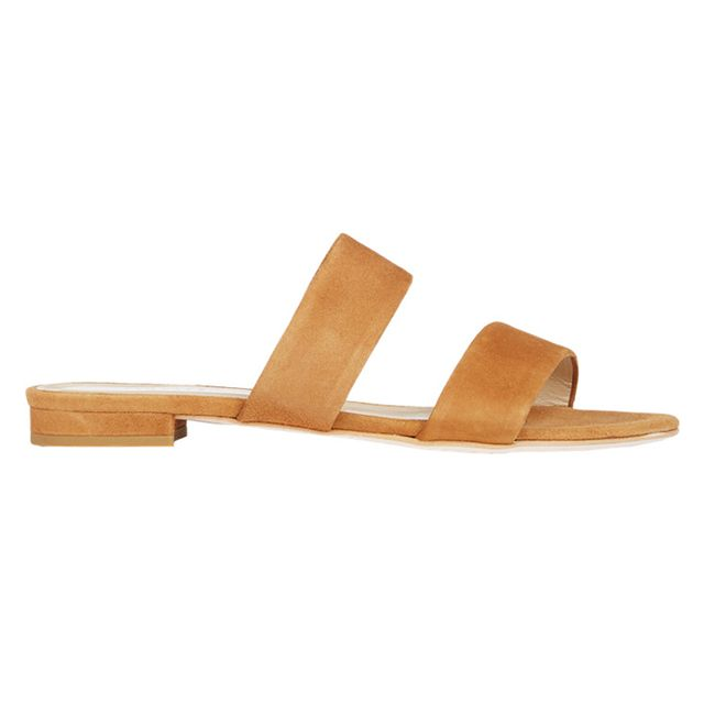 Barneys New York Suede Double-Band Slides