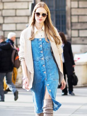 How to Style a Denim Dress Like a Street Style Star