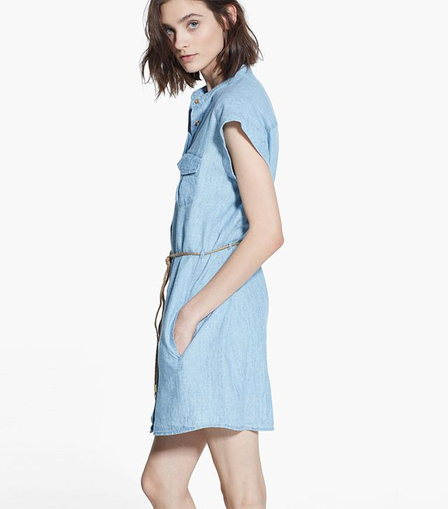 Mango Cotton-Blend Shirt Dress