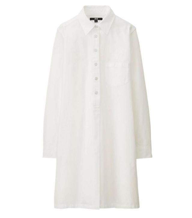 Uniqlo Denim Long Sleeve Dress