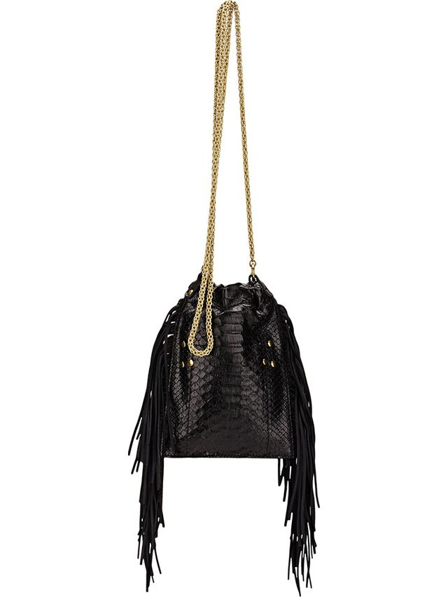 Jerome Dreyfuss Python Gary Small Shoulder Bag