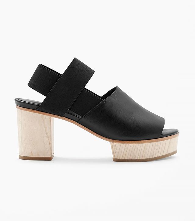 COS Wood Heel Sandals in Black