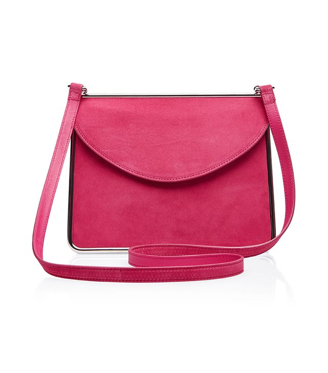 Carven Suede Shoulder Bag
