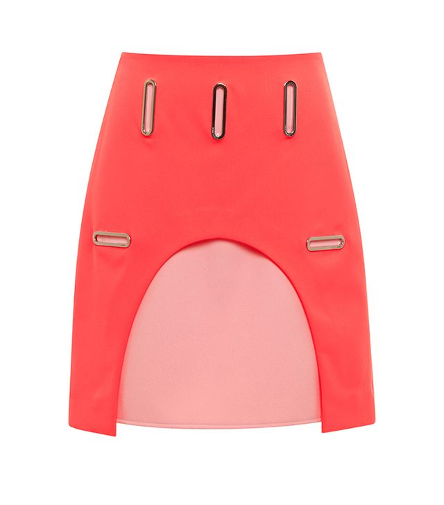 Opening Ceremony Marny Double Face Grommet Cut-Out Skirt