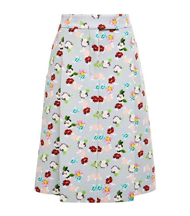 Thom Browne Pleat Front Floral Skirt
