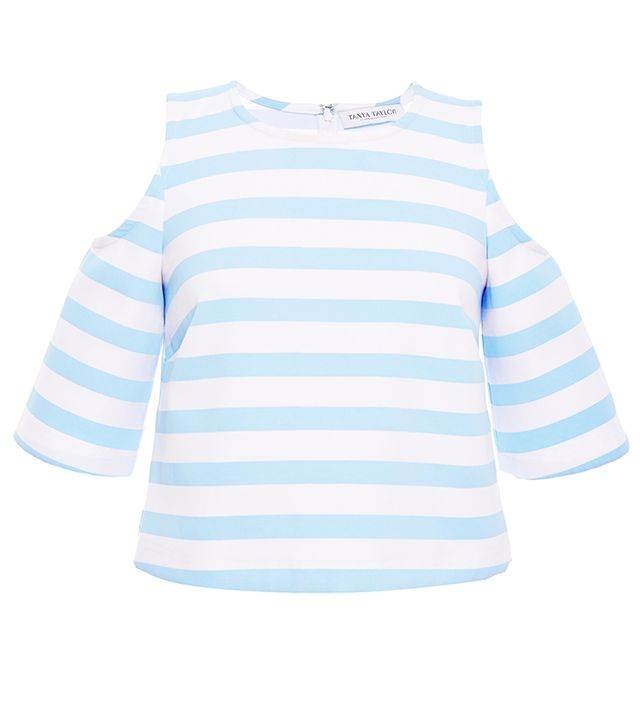 Tanya Taylor Stripe Iris Crop Top