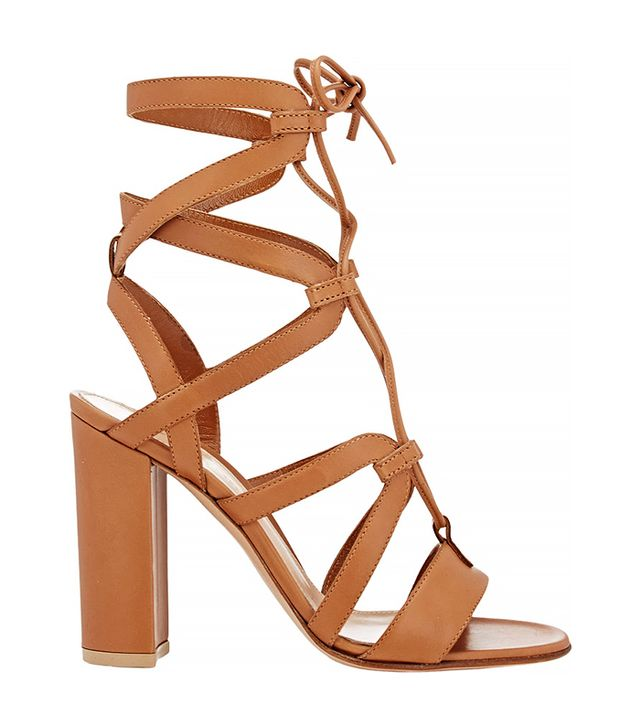 Gianvito Rossi Strappy Lace-Up Sandals