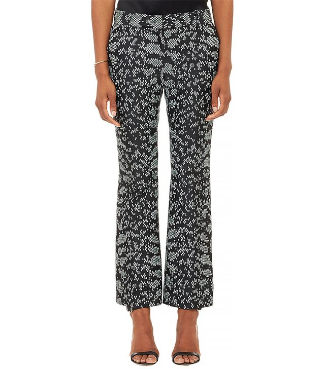 3.1 Phillip Lim Diamond-Weave Cropped Flare Pants