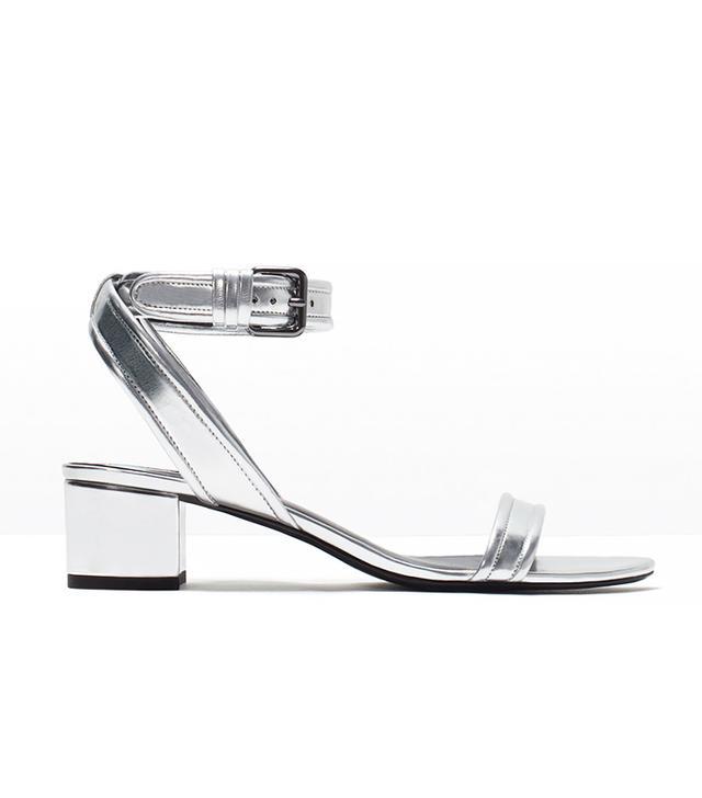 Zara Block Heel Ankle-Strap Sandals