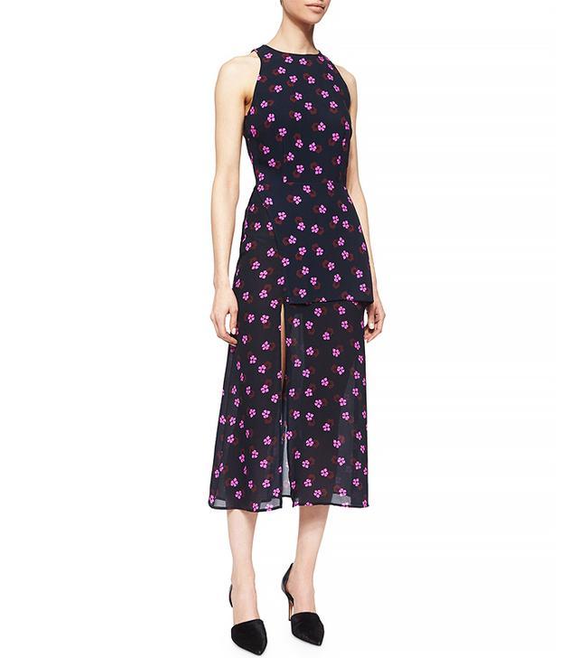 A.L.C. Liza Flower-Print Layered Dress