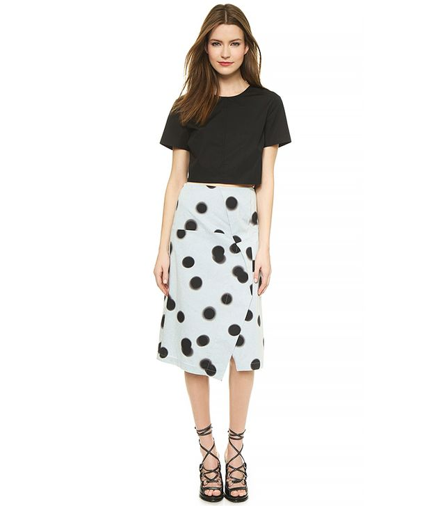 Marc by Marc Jacobs Drape Front Pencil Skirt