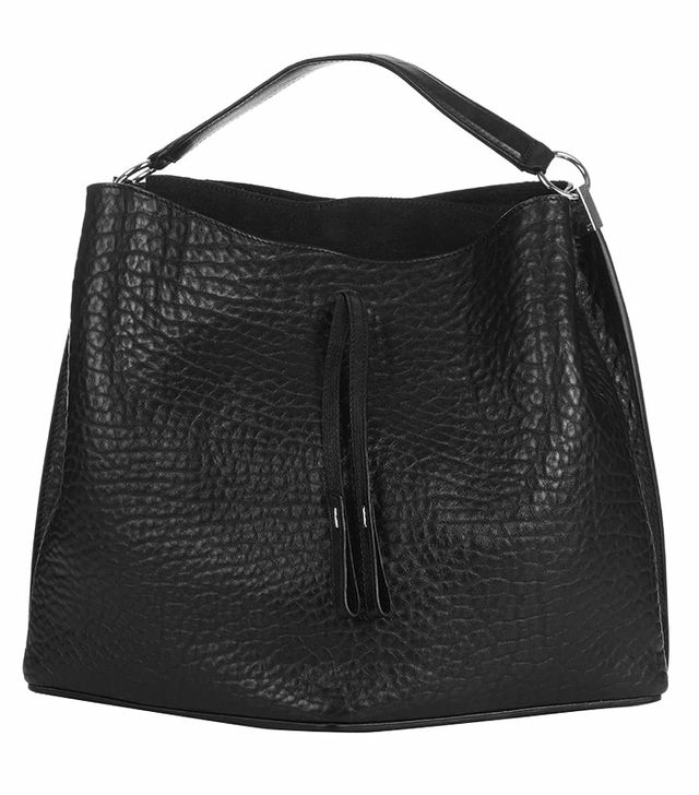 Maison Margiela Grained-Leather Bucket Bag