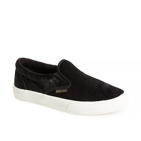 Calf Hair Slip-On Sneakers