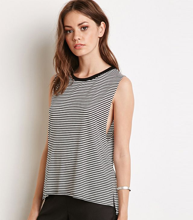 Forever 21 Striped Muscle Tee