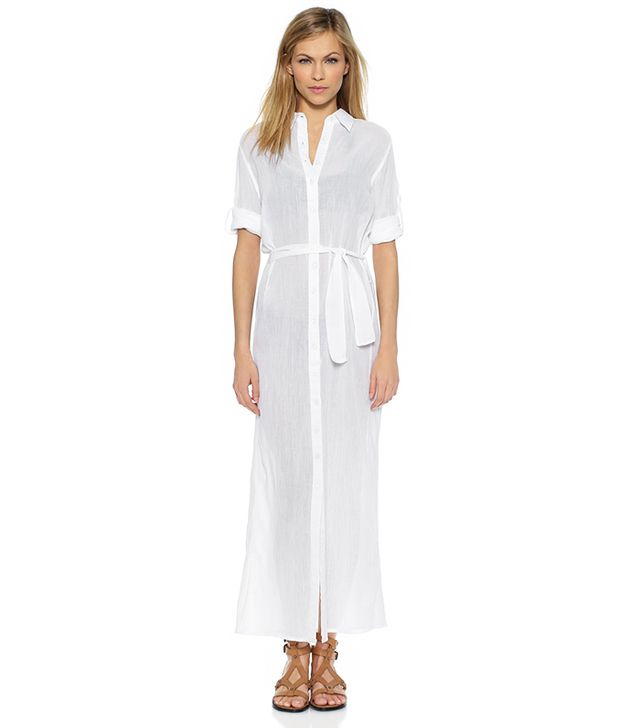 Thayer Maxi Cover Up Shirtdress