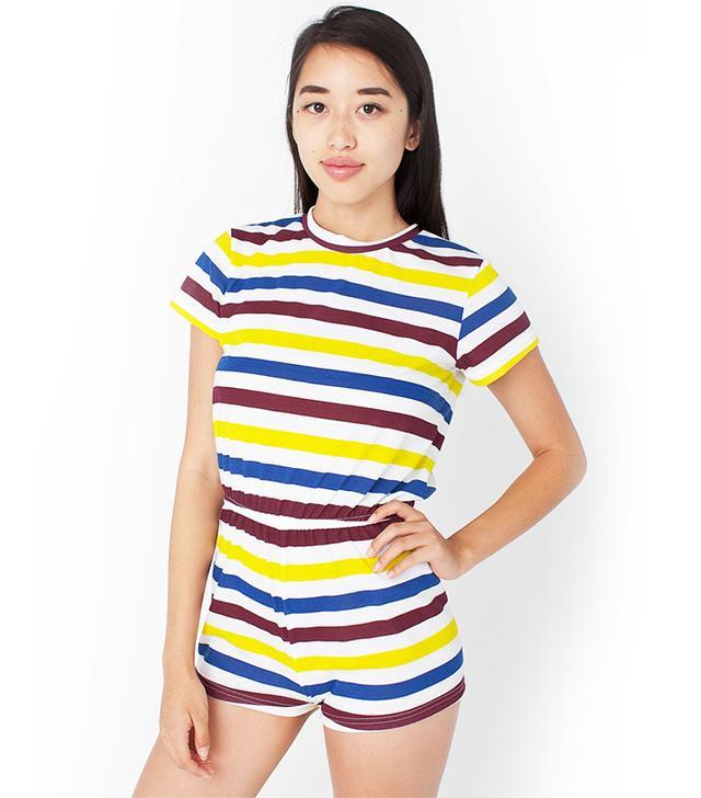 American Apparel Stripe T-Shirt Romper